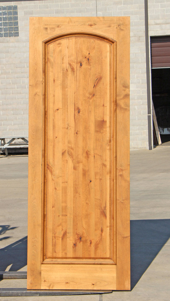 Rustic One Panel Entry Door In Knotty Alder On Clearance