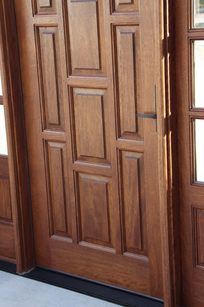 Exterior Mahogany Door Closeup