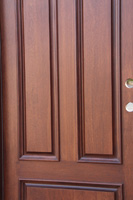 Mahogany Round top Doors closeup photo
