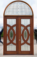 Clearance Olympus Double Door with Arched Transom