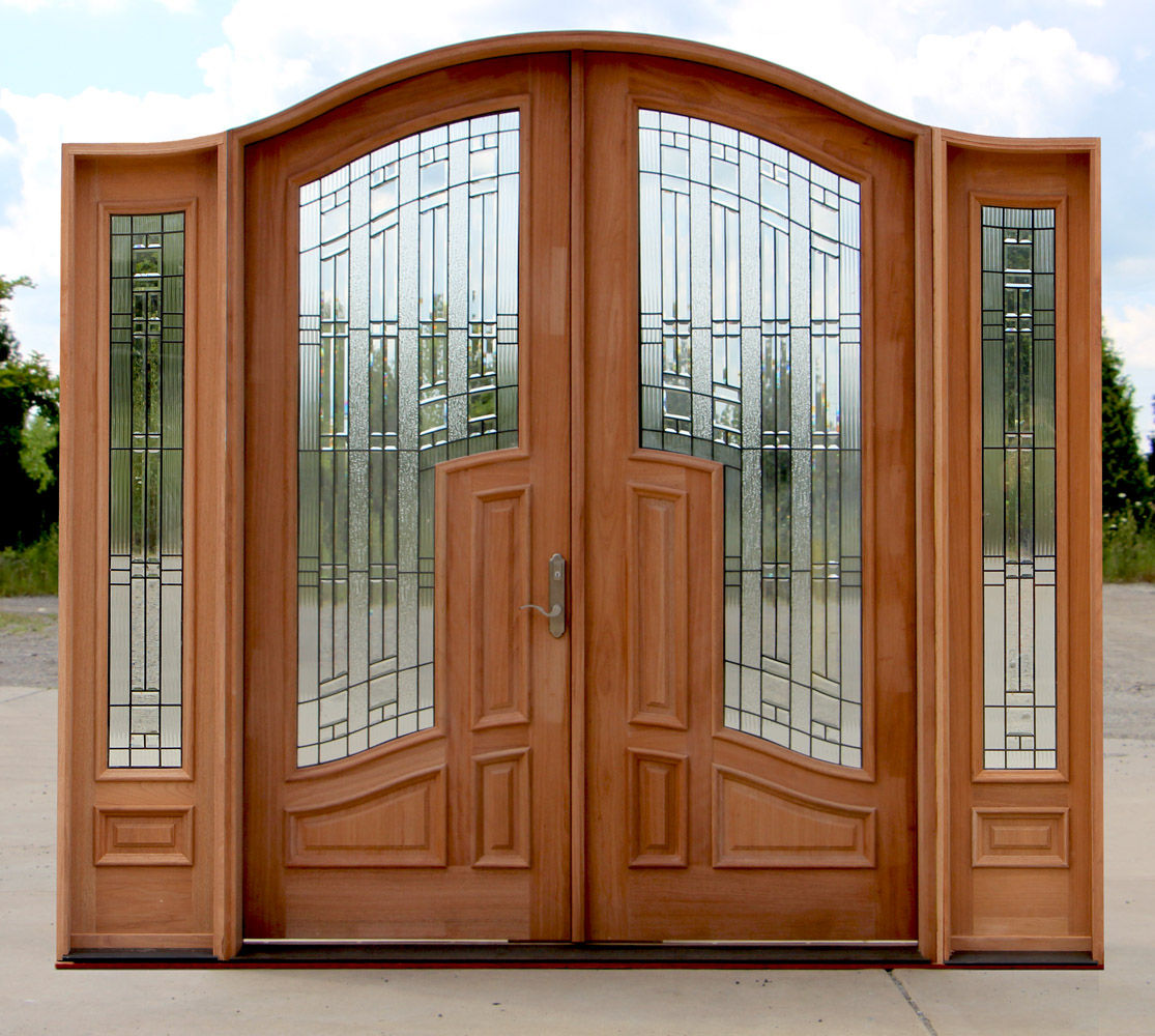 Arched Double Doors With Sidelights And 3 Point Locking Mechanism