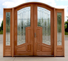 CL-91 Arched Double doors with Sidelights