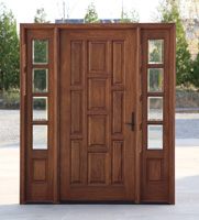 Ten Panel Entry Door with 2 Sidelights