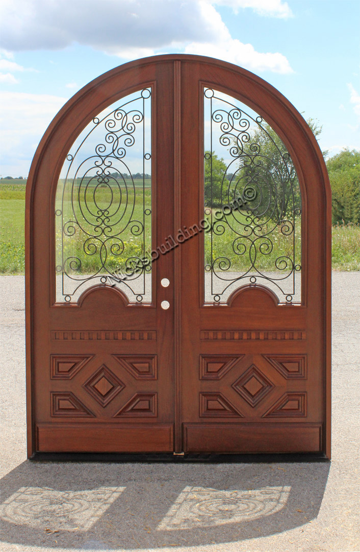 Radius Double Door Solid Mahogany Double Entry Doors