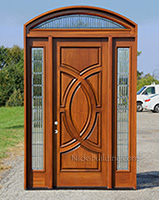 Custom Ordered Door with Arched Transom Window - Olympus