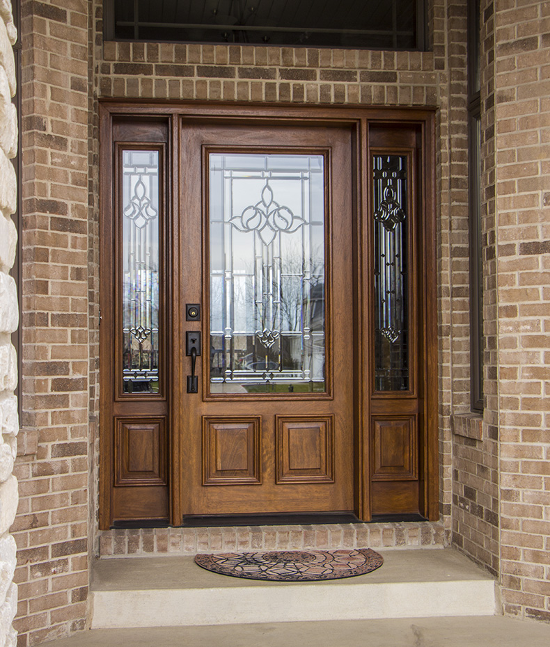 Fiberglass doors for Wood for exterior door