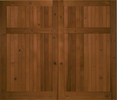 Knotty Cedar Garage Door no lites