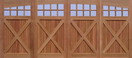 Western Style Garage Doors Cross-bucks