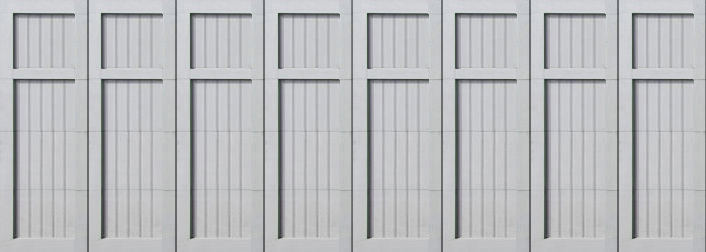 paint grade garage door 16x8