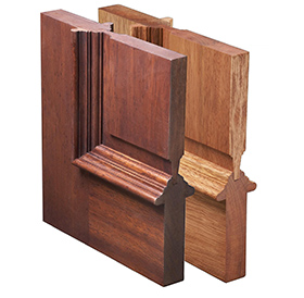 solid mahogany wood door corner samples