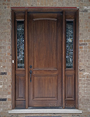 2 panel exterior wood doors with sidelites