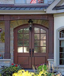 Arched Double Doors with Seedy Glass