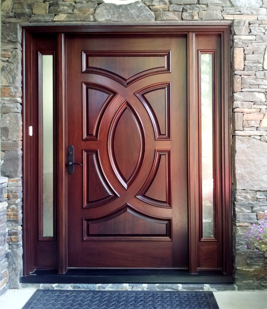 Custom Mahogany Door Installed