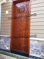 carved doors by hand