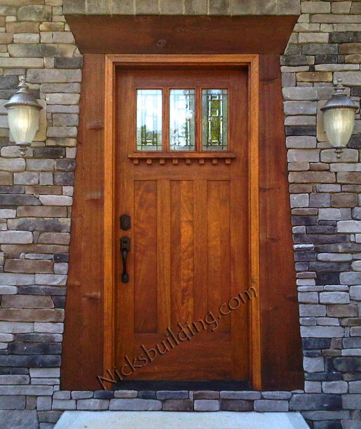 Clearance doors nicksbuilding com for Wood front entry doors