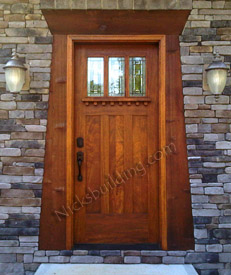 Craftsman Door installed