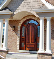 exterior arched doors with glass in Frankfort, IL