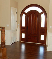 exterior round top doors with glass