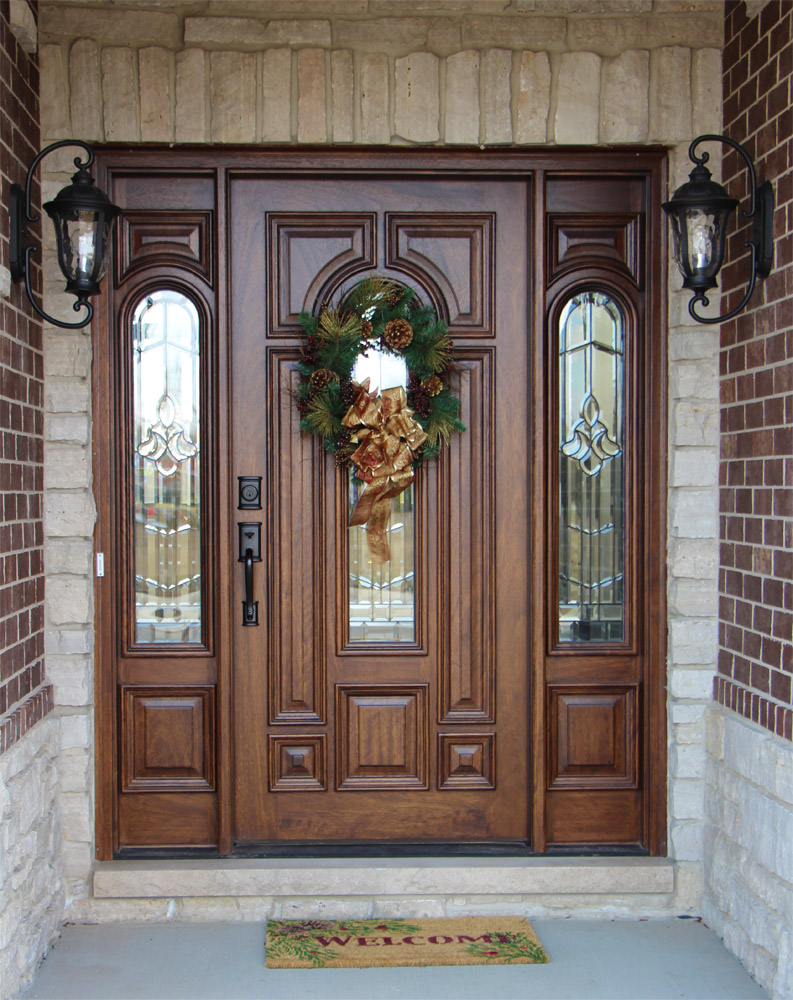 Exterior door gallery wooden door pictures for Hardwood front doors