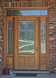 exterior wood doors with sidelites and transoms