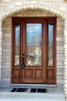 Mahogany Door Installation - Bloom