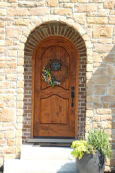Single Arched Doors with window