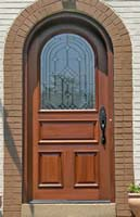 arched entry door