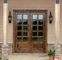 Knotty alder French Doors