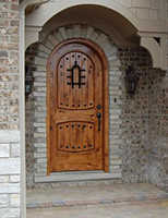 rustic arched exterior door in Frankfort, IL