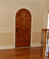 rustic arched door inside in Frankfort,IL