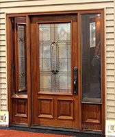 exterior front door with venting sidelights