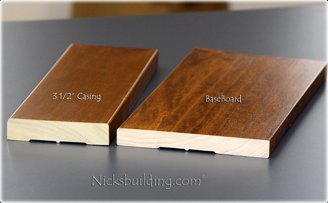 Flat Casing And Baseboard Profile, Poplar Interior Trim Prices