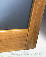 knotty alder baseboard and casing