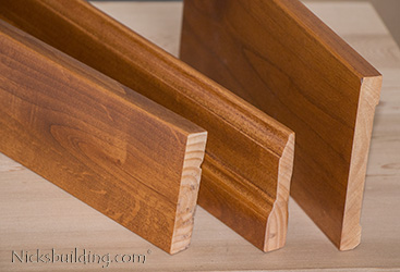knotty alder interior casing and baseboard