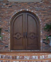 round top double doors