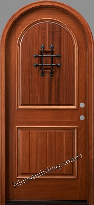Round Top Doors Mahogany Arched Exterior Doors