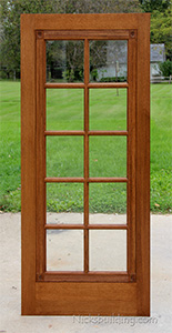 Interior Oak French Doors, 15 lite Oak French Doors