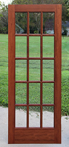 Interior French Doors, 15 lite Mahogany French Doors