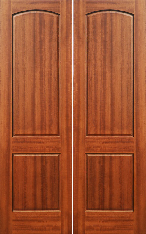 Interior wood doors solid mahogany 2 panel doors for Interior panel doors