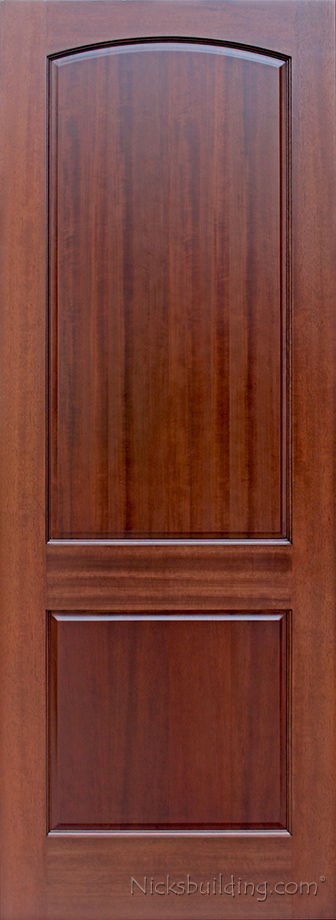 Two panel doors interior doors mahogany for Mahogany interior doors