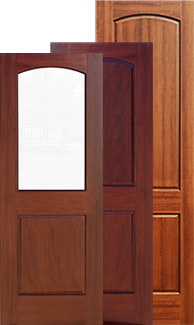 "2 panel mahogany interior doors in 6'8"", 7' 0"" and 8'0"""
