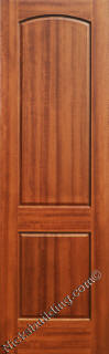 1 Panel Mahogany Fire Rated Doors