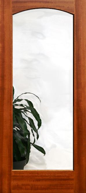 801 Mahogany Clear Glass Doors