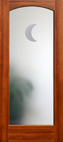 801 frosted moon glass mahogany interior glass door