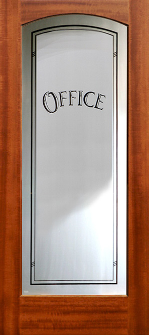 office interior doors. full lite etched glass interior door model 801 with moon office doors