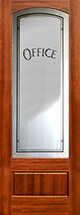 801 etched glass mahogany interior office door