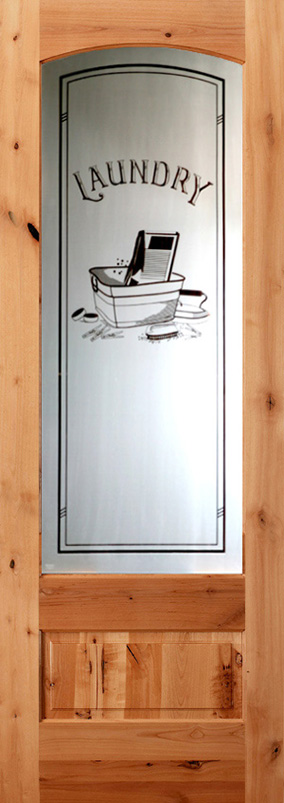 Etched Gl Interior Doors With Laundry
