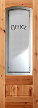801 knotty alder etched glass office door