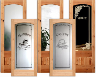 rustic interior glass doors