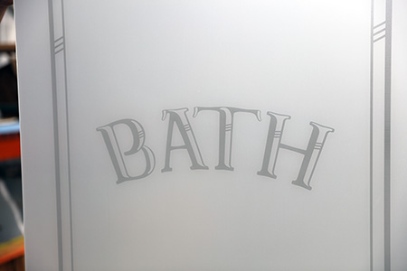 Etched Bath Glass